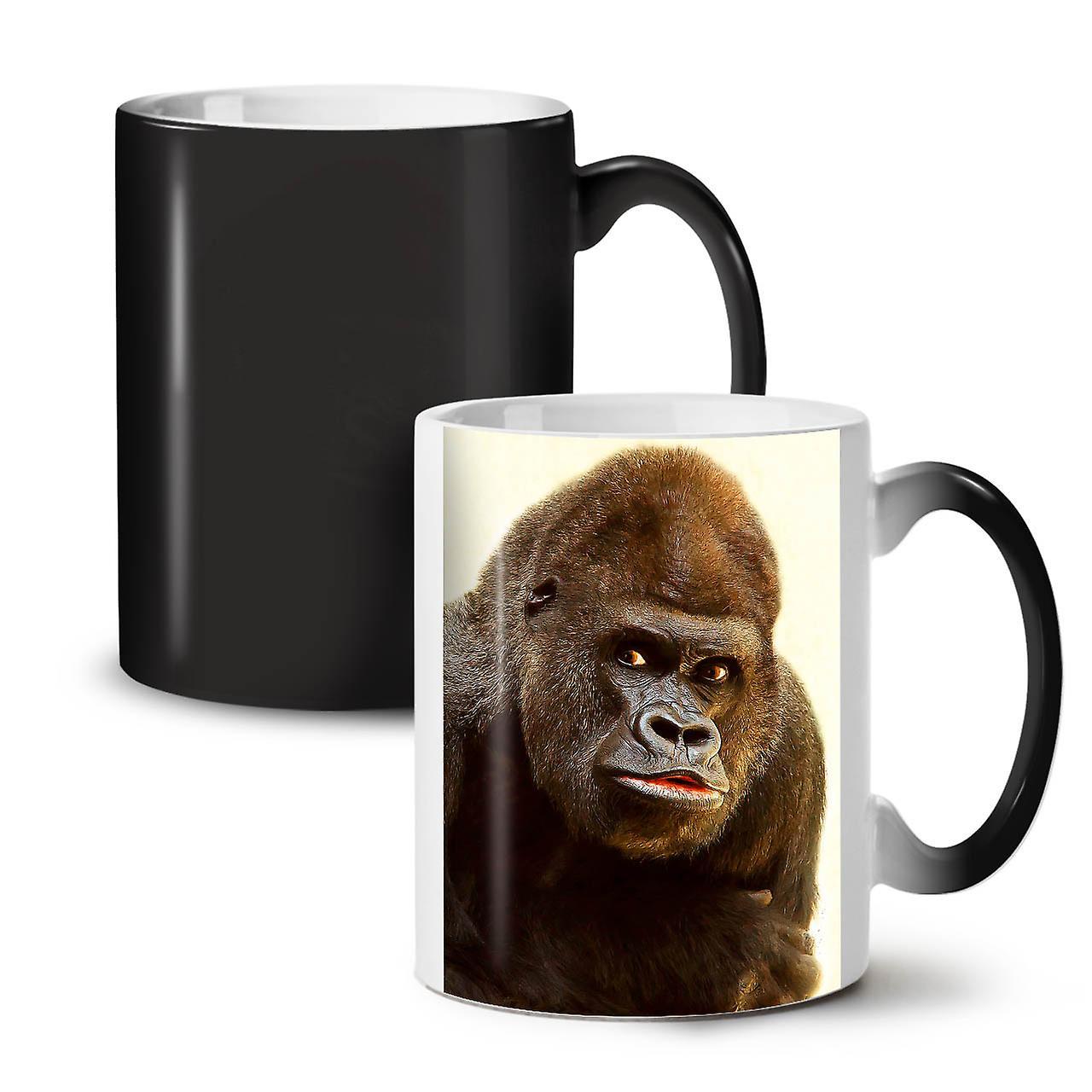 OzWellcoda 11 Colour Mug Monkey Photo Coffee Ceramic Tea New Black Changing 0XnwOP8k