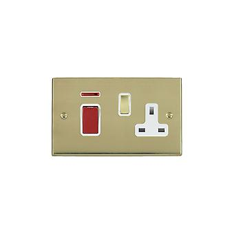 Hamilton Litestat Cheriton Victorian Polished Brass 45DP+N+SS1 PB/Red/WH