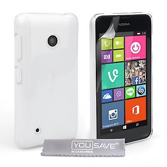 Yousave Zubehör Nokia Lumia 530 Hardcase - kristallklar