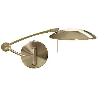 Searchlight 9851AB 1 Light Swing Arm Dimmable Wall Light Antique Brass
