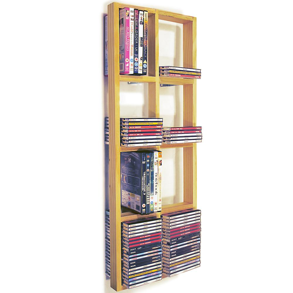 Iris - Double Wall 152 Cd / 64 Dvd / Blu Ray Storage Frame Shelf - Natural
