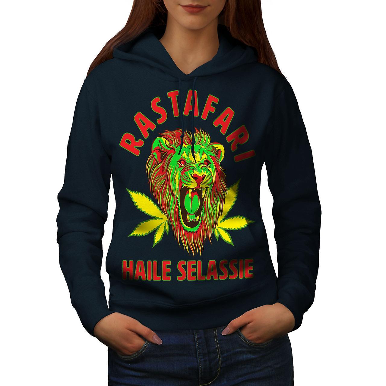 Stoner Rasta Lion femmes NavyHoodie