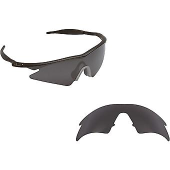 M Frame Sweep Replacement Lenses Polarized Black Iridium by SEEK fits OAKLEY