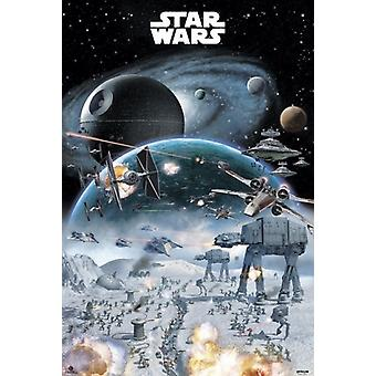 Star Wars Battle Poster drucken (24 x 36)