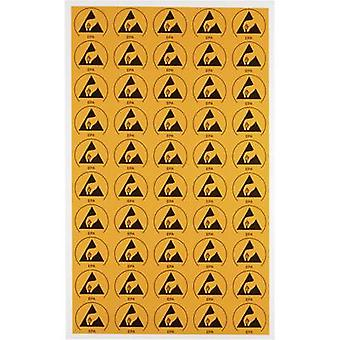 ESD symbol 50 pc(s) Yellow, Black (L x W) 30 mm x 25 mm Wolfgang
