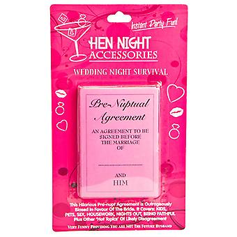 Hens Night Pre Nuptial Agreement Accessory