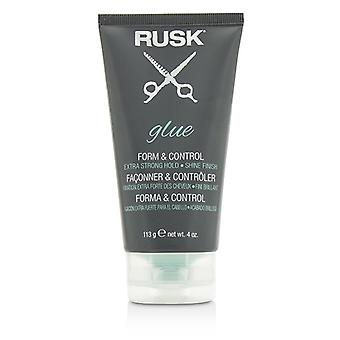 Rusk lijm formulier & controle (Extra Strong Hold, Shine Finish) 113g / 4oz