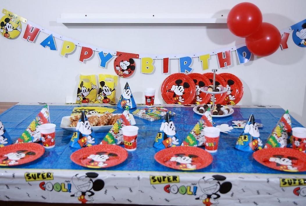 Micky Maus Retro Set Xl 73 Teilig Fur 6 Gaste Disneyparty Geburtstag