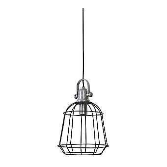 Light & Living Hanging Pendant Lamp D27x39cm Nani Wire Industrial Style Grey Raw Aluminium