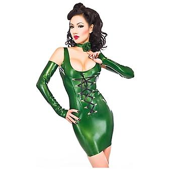 Westward Bound Basque Latex Rubber Dress.