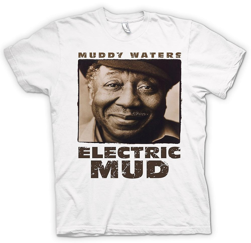 Hommes T-shirt - Muddy Waters boue électrique Blues - Guitar - Icon