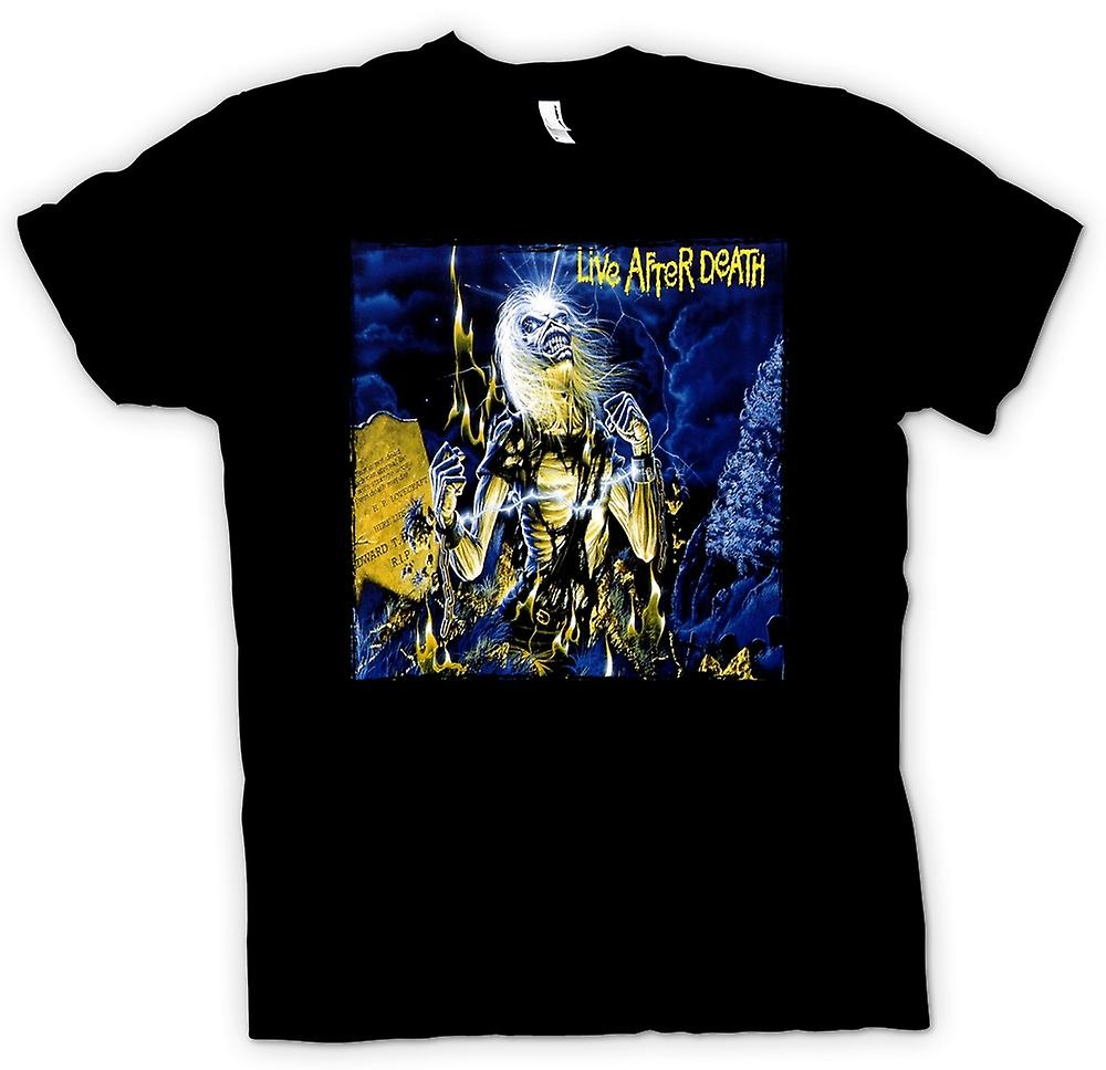 Mens T-shirt - Iron-Maiden - Album-Cover - Leben nach dem Tod