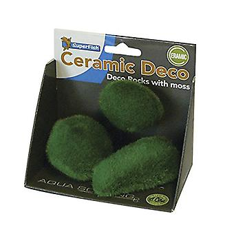 SuperFish Aquarium Deco Rocks With Moss