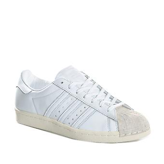 Womens adidas Originals Superstar 80S Cork Trainers In Footwear White/Off White