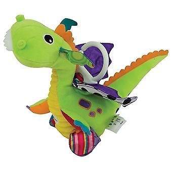 LAMAZE Flip Flap Dragon Clip op Pram en wandelwagen Baby speelgoed