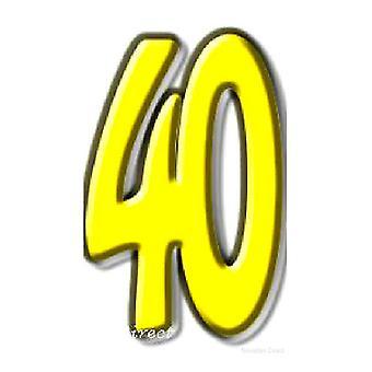 40 recorte de cartón cuarenta