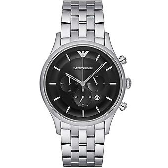 Armani Watches Ar11017 Black & Silver Stainless Steel Chronograph Men's Watch