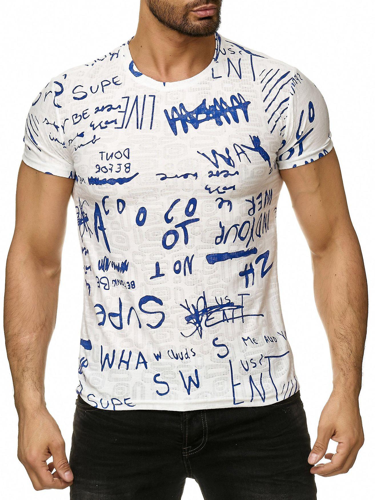 super popular 59377 44c0e Men T-Shirt Scripture Letters Short Sleeve Shirt Longshirt Motif Print  O-Neck