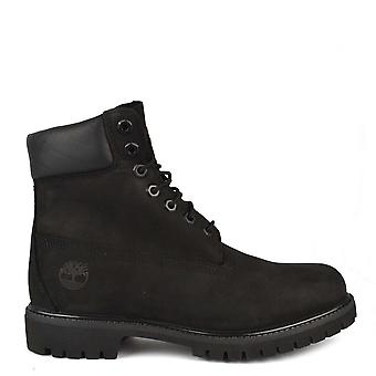 Timberland Mens' 6 Inch Premium Black Leather Boot