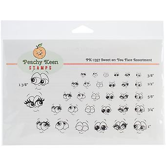 Peachy Keen Stamps Clear Face Assortment 32/Pkg-Sweet On You