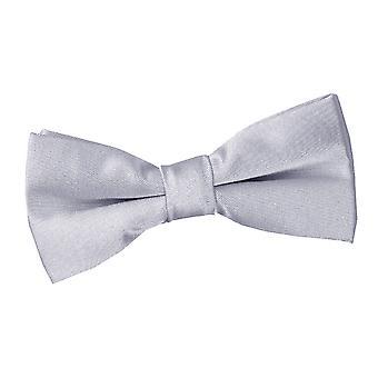Argento Plain Satin Bow Tie pre-legato per i ragazzi