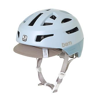Bern Satin Pale Blue 2017 Parker Zipmold with Flip Visor Womens Cycling Helmet