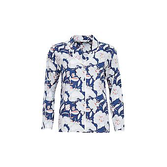 Cyberjammies 3838 Women's Zoe Navy Blue Floral Pajama Pyjama Top