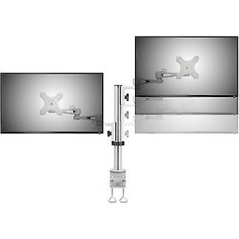 SpeaKa Professional SP-DUAL-ARM 2x Monitor desk mount 33,0 cm (13) - 68,6 cm (27) Swivelling/tiltable, Swivelling