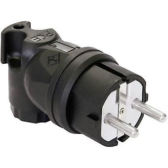 PCE 05811-s Safety L-shape mains plug Rubber 230 V Black IP44