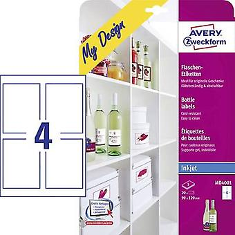 MD4001 Avery Zweckform 90 x 120 mm papel blanco