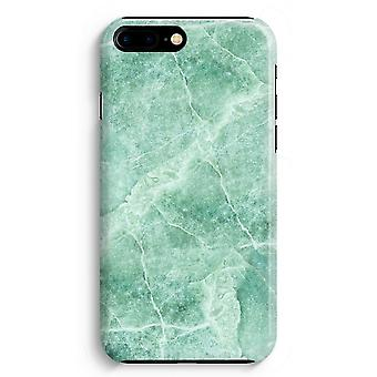 iPhone 8 Plus Full Print Case (Glossy) - Green marble