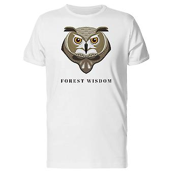 Owl Head With Text Forest Wisdom Tee Men's -Image by Shutterstock