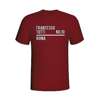 Francesco Totti Roma troppen T-shirt (rødbrun)