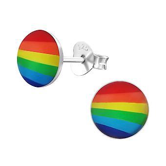 Arcobaleno - 925 Sterling Silver colorati orecchini - W19701X
