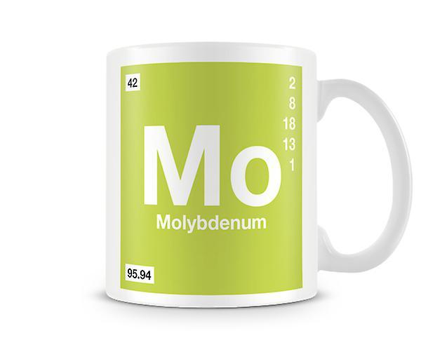 Scientific Printed Mug Featuring Element Symbol 042 Mo - Molybdenum