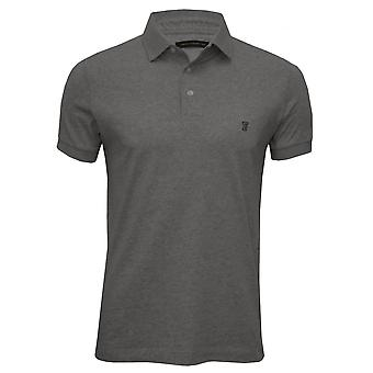 French Connection Classic Jersey Polo Shirt, Grey Melange