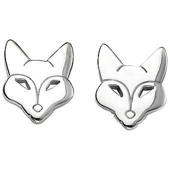 Begin Fox Stud Oorbellen - zilver