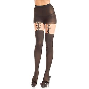 Tights With Suspenders look And Bow Ties