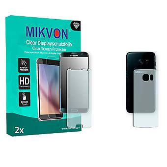 Samsung Galaxy S7 Edge Screen Protector - Mikvon Clear (Retail Package with accessories) (3x FRONT / 3x BACK) (reduced foil)