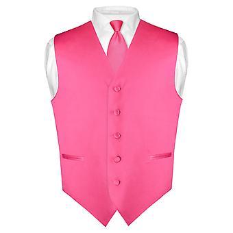 Mænds Dress Vest & mager slips ensfarvet 2,5
