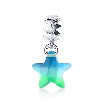 Sterling silver pendant charm Sparkling star