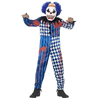 Deluxe Sinister Clown Costume, Medium Age 7-9