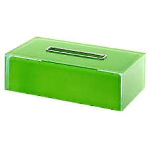 Gedy Rainbow Rectangular Tissue Box Green RA08 04