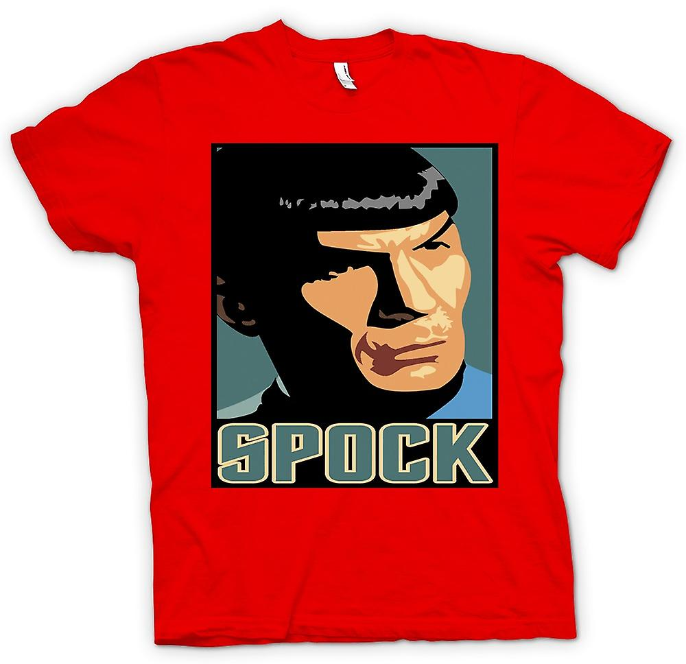 Heren T-shirt-Star Trek - popart - Spock