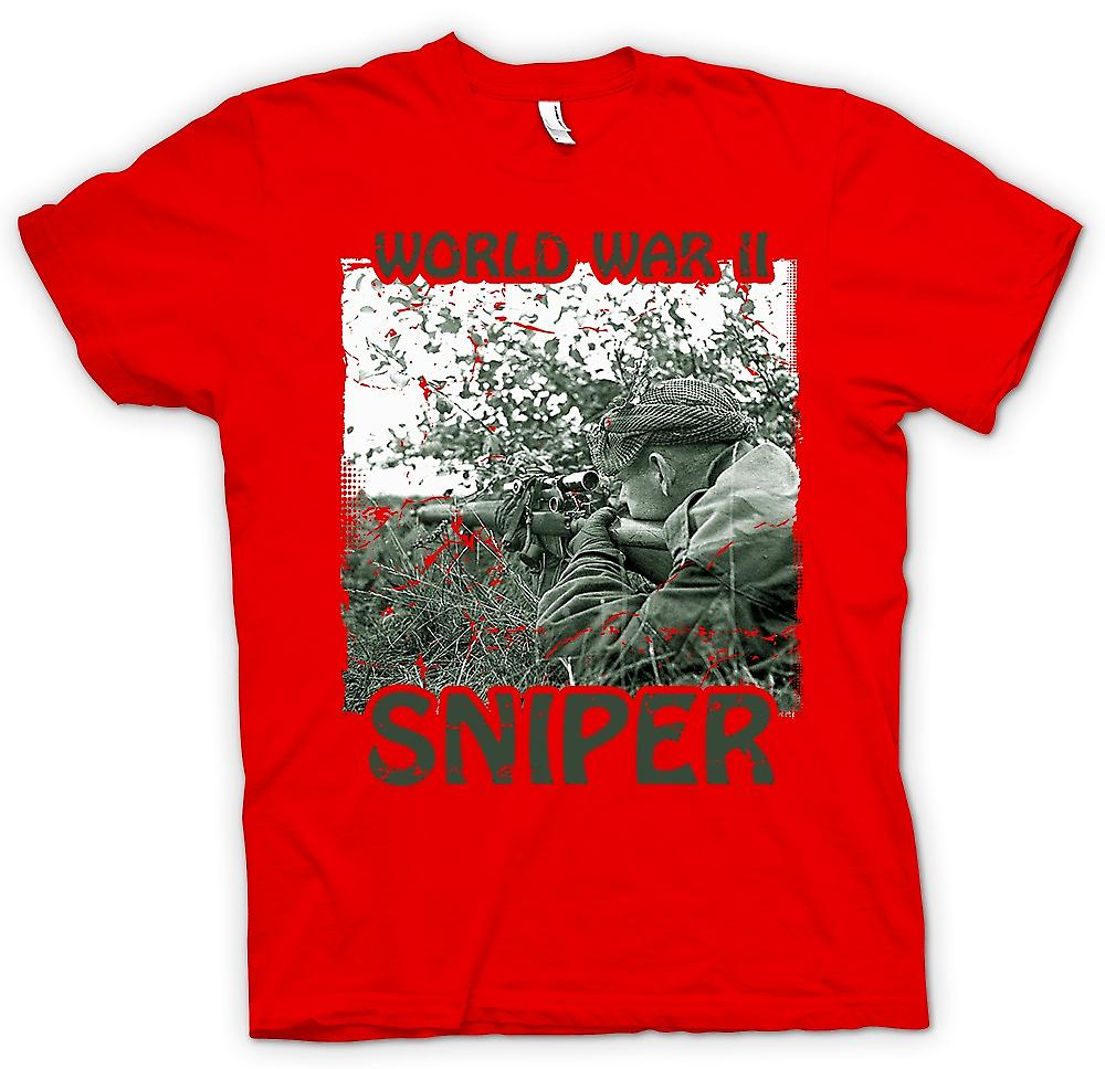 Mens t-skjorte - World War 2 Sniper - infanteri