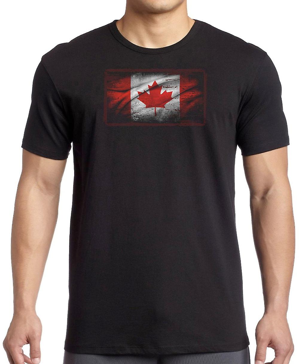 Canadian Canada Grunge Flag Kids T Shirt