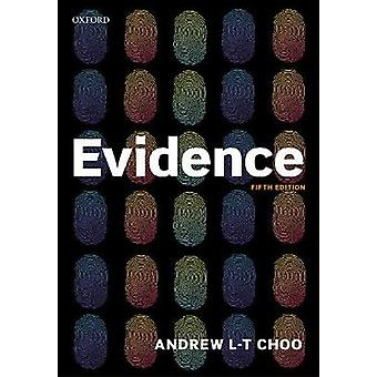Evidence by Andrew Choo - 9780198806844 Book