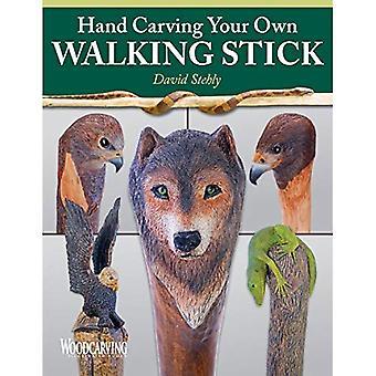 Hand snijwerk van uw eigen wandelstok