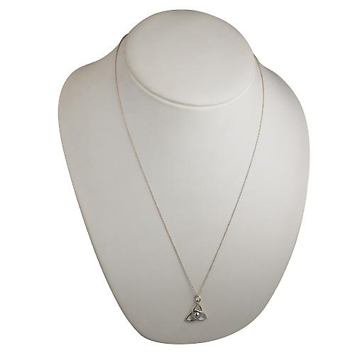 Silver 18x20mm Trinity knot Pendant with a curb Chain 24 inches