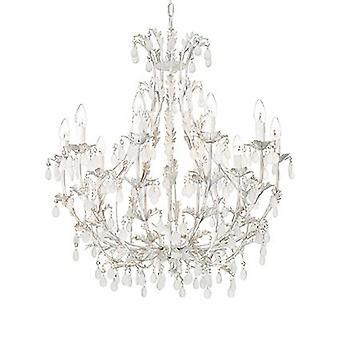 Ideal Lux - Cascina weiß und Gold Ten Licht Kronleuchter IDL100302